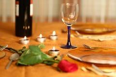 Tabela romântica Imagem de Stock