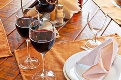 Tabela serida do restaurante Imagem de Stock