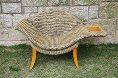 tabela strony krzesło rattan Zdjęcie Royalty Free