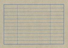 Tabela vazia de um cartão imagens de stock