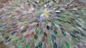Tabela verde do mosaico imagens de stock