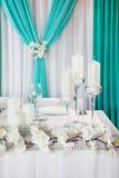 Tabela wedding decorada foto de stock royalty free