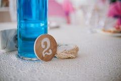 Tabelas da numeração no casamento Imagens de Stock Royalty Free