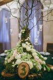 Tabelas da numeração no casamento Fotografia de Stock Royalty Free
