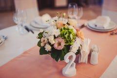 Tabelas da numeração no casamento Fotografia de Stock