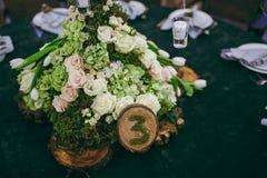 Tabelas da numeração no casamento Imagem de Stock