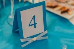 Tabelas da numeração no casamento Fotos de Stock