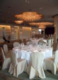 Tabelas de banquete 1 Foto de Stock Royalty Free