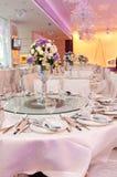 Tabelas de banquete foto de stock royalty free