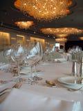 Tabelas de banquete 2 Fotografia de Stock Royalty Free