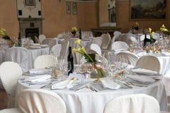 Tabelas de banquete Imagens de Stock Royalty Free