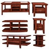 Tabelas de madeira Fotografia de Stock Royalty Free