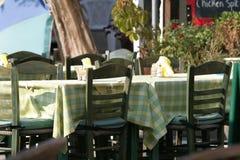 Tabelas do restaurante Fotografia de Stock Royalty Free