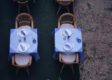 Tabelas do restaurante Imagem de Stock Royalty Free