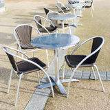 Tabelas e cadeiras Imagens de Stock Royalty Free