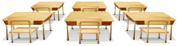 Tabelas e cadeiras ilustração stock