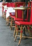 Tabelas e cadeiras do café Imagem de Stock