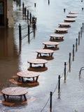 Tabelas inundadas Imagens de Stock Royalty Free