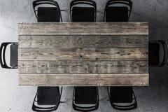 tabele drewnianą krzesło Obraz Stock