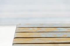 Tabellöverkant av brunt, sikt för hög vinkel Arkivfoton