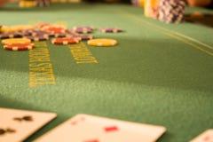 tabell för 2 poker Fotografering för Bildbyråer