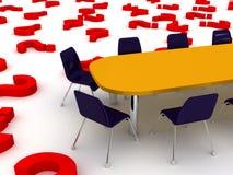 tabell för begreppsdiskussionsmöte Arkivfoto