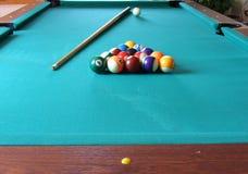 tabell för billiard 4 Arkivbilder