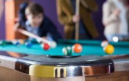 Tabell för fick- billiard Royaltyfria Bilder
