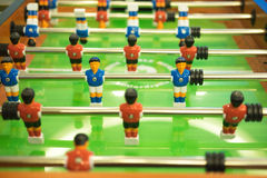 Tabell för fotboll för lek för fotboll för tabell för fotbolltabellfotboll Royaltyfria Foton