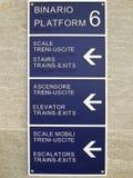 Tabell för information om plattform för drevstation med blindskrifttext royaltyfria bilder