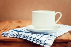 tabell för kaffekopp Royaltyfri Fotografi