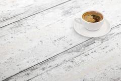 tabell för kaffekopp fritt avstånd Isometriskt beskåda royaltyfri fotografi