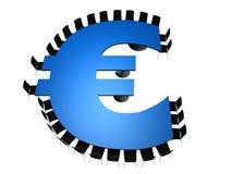 Tabell för konferensrum i formen av euroet Arkivfoto