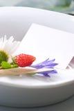 tabell för matställeinställningssommar Royaltyfria Bilder