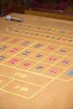 tabell för roulett för kasino verklig skjuten period Arkivbild