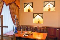Tabell i en japansk restaurang Royaltyfria Bilder