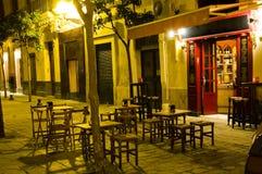 Tabell i trottoarcaffee i Se Fotografering för Bildbyråer