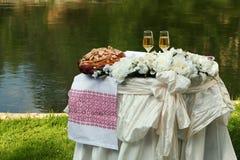 Tabella 2 di cerimonia nuziale Fotografia Stock