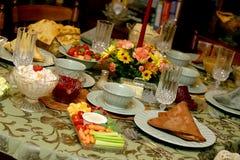 Tabella 9060 del pasto di festa Fotografie Stock