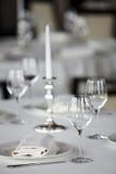 Tabella al ristorante Fotografia Stock