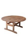 Tabella all'aperto di legno Fotografia Stock