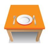 Tabella arancione Fotografia Stock Libera da Diritti