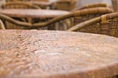 Tabella bagnata dei bistrot Fotografia Stock Libera da Diritti