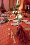 Tabella capa ad una cerimonia nuziale Fotografia Stock