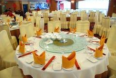 Tabella cinese di Rstaurant   Immagini Stock