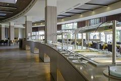 Tabella con buffet nel ristorante 2 dell'hotel fotografia stock libera da diritti
