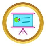 Tabella con l'icona di vettore di programma Fotografie Stock