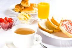 Tabella con la prima colazione Immagine Stock