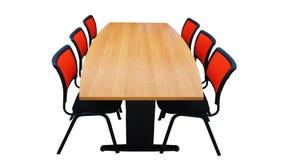 Tabella con le sedie isolate Fotografia Stock