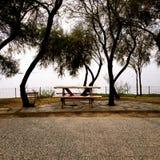 Tabella con un Seaview Fotografie Stock